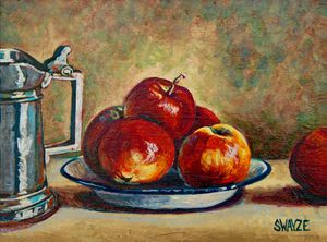 Apples, Bowl, and Pewter Tankard