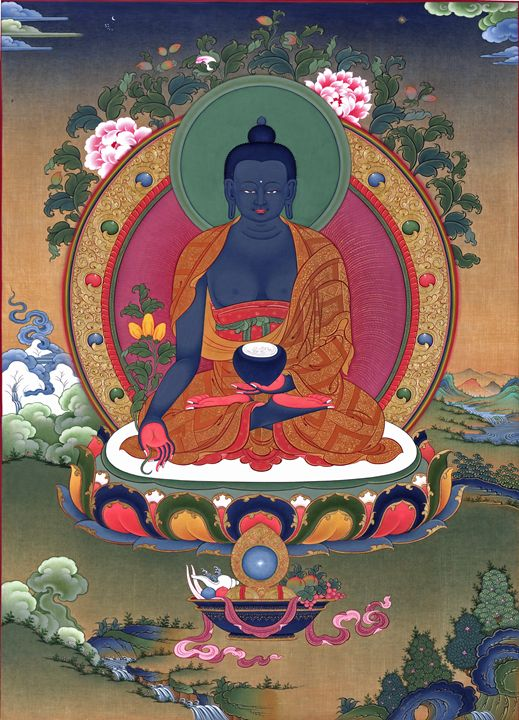 Medicine Buddha - Tibetan Thangka Painting