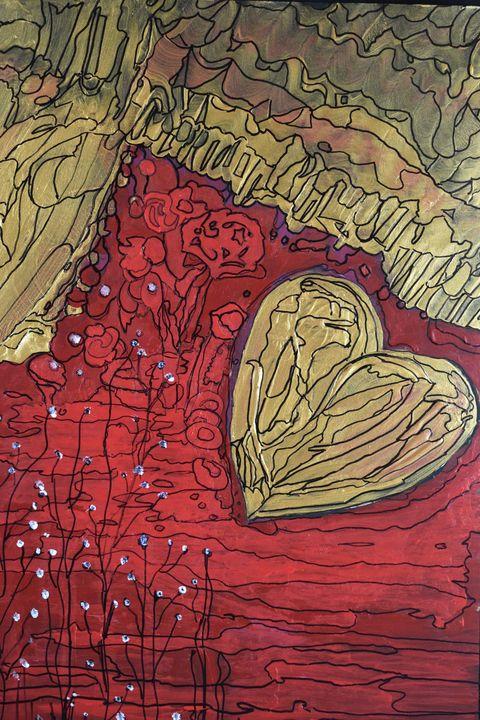Floating Heart - Creative Art by Diana