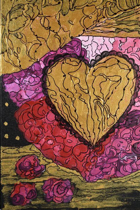 Love Heart - Creative Art by Diana