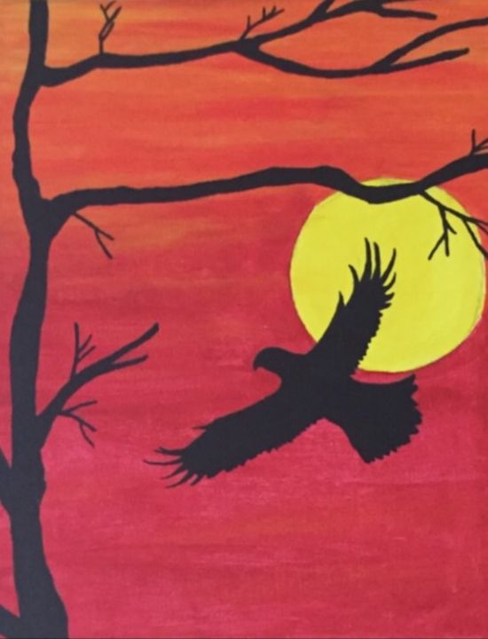 Eagles sunset - Angie kupka