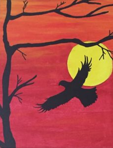 Eagles sunset