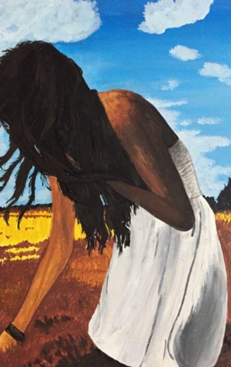 Girl in meadow - Angie kupka