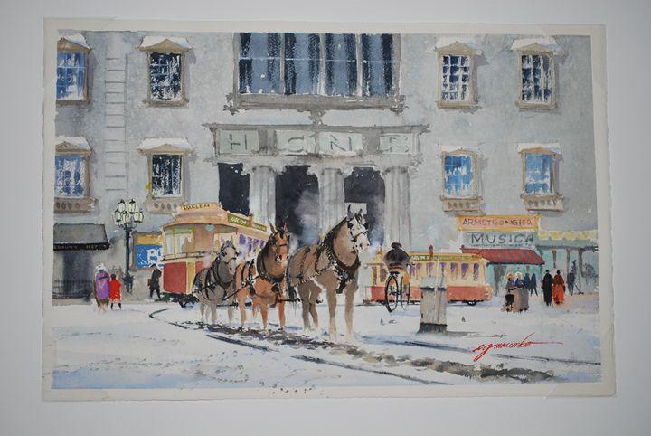 The Old Harlem Trolley (1903) - egmacomberstudio