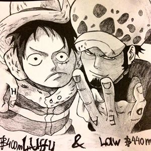Luffy and Trafalgar Law