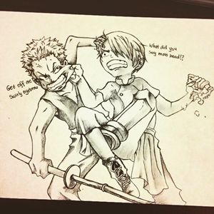 Kid Zoro and Kid Sanji
