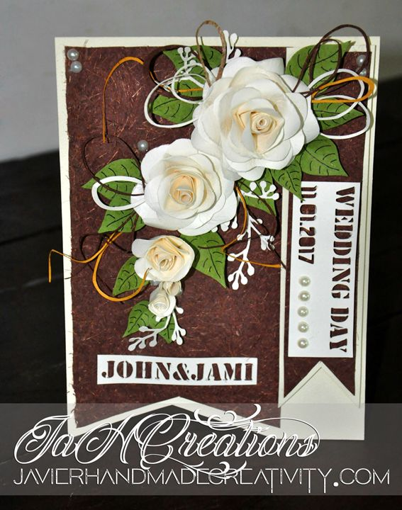 Wedding handmade card - FishGirl@C