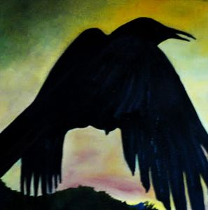 Raven II - Paintings by Jennifer Redman Wadsworth