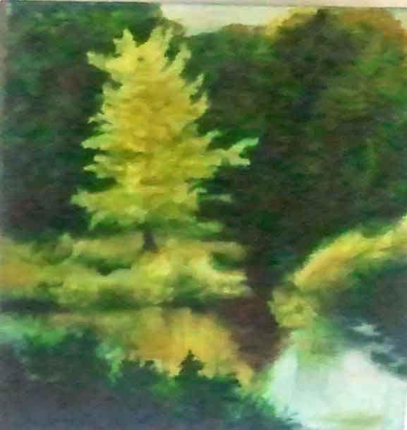 Androscoggin Backwash - Paintings by Jennifer Redman Wadsworth