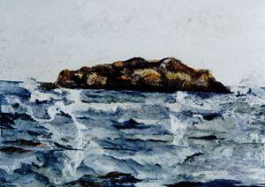 Island off Popham Beach - Paintings by Jennifer Redman Wadsworth