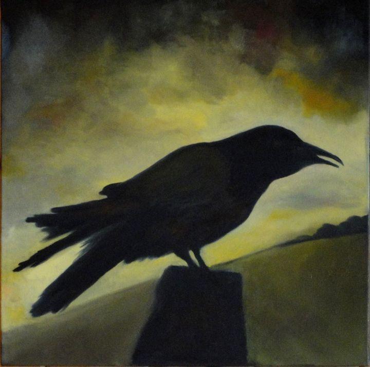 Raven III - Paintings by Jennifer Redman Wadsworth