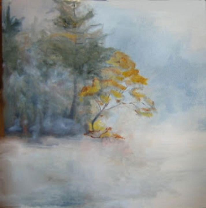 Misty River - Jennifer Redman Wadsworth Art