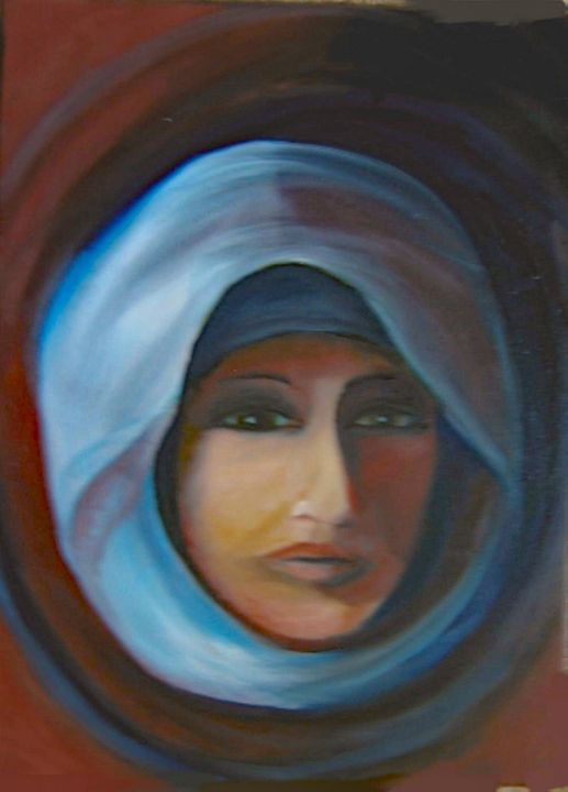 Woman in Blue - Paintings by Jennifer Redman Wadsworth