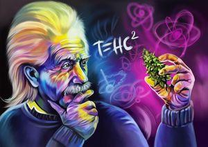 Psychedelic Albert Einstein