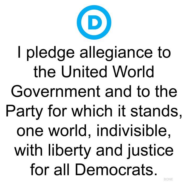 Democrat Party Pledge of Allegiance - Lincoln Bone Political Art