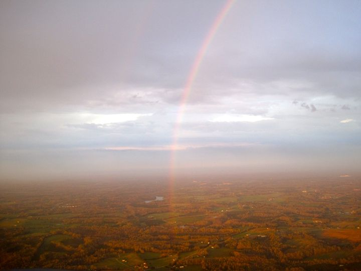 Rainbow from an airplane - Phil
