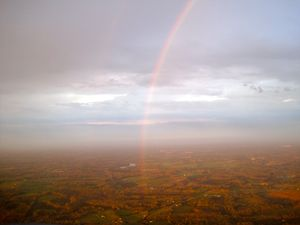 Rainbow from an airplane