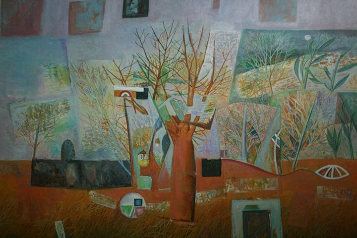 Trees in glass painting - Galarina
