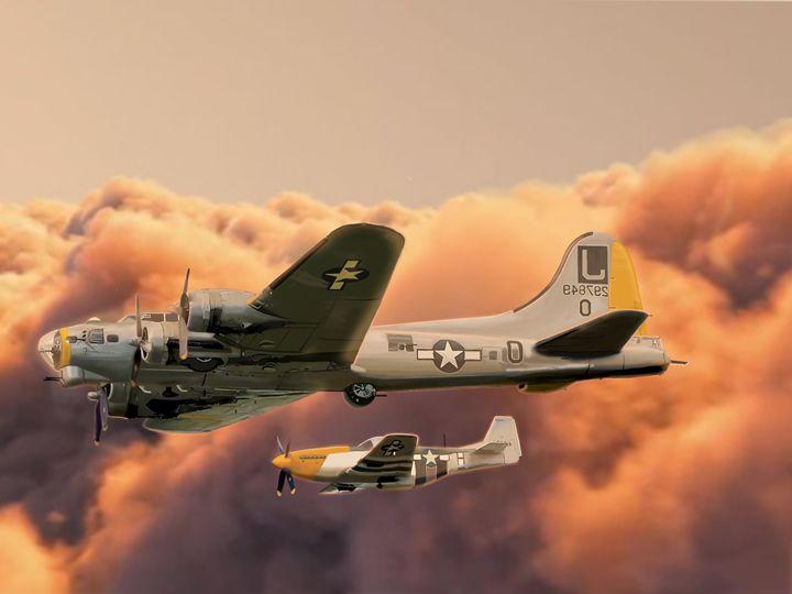 Flight at Sunset - Kendall Tabor Jr.