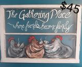 The gathering place painted windo