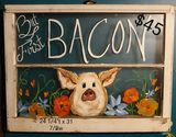Vintage pig Window