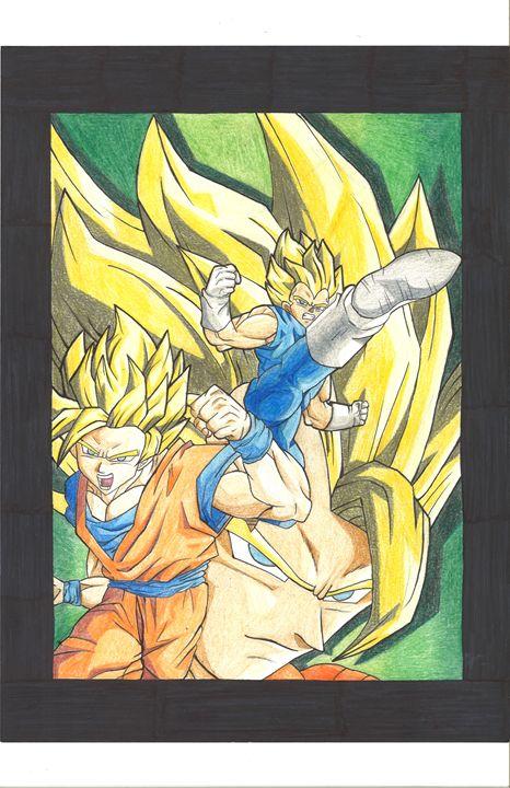 Goku and Vegeta - Vane's Art