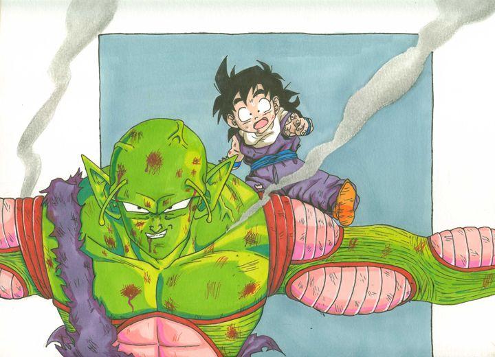 Piccolo saves gohan - Vane's Art