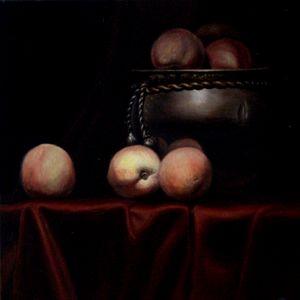 Peaches in a Copper Jar