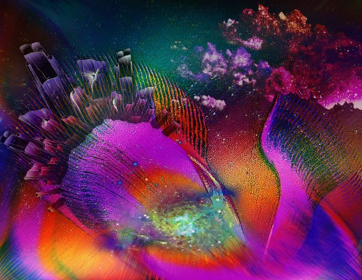 Flower Goddess of many planets - CMT  GRAVITY  DESIGNS
