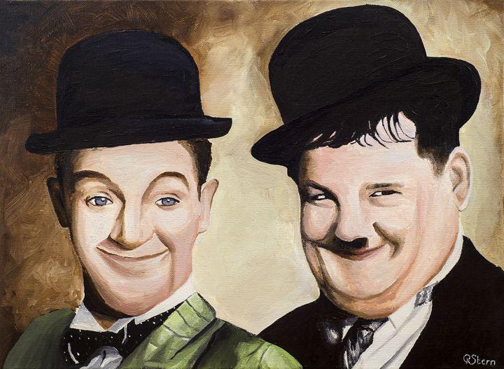 Laurel and Hardy - The art studio