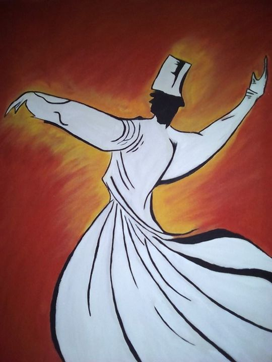 Sufi Whirling - Sahrosh Painting is Fun