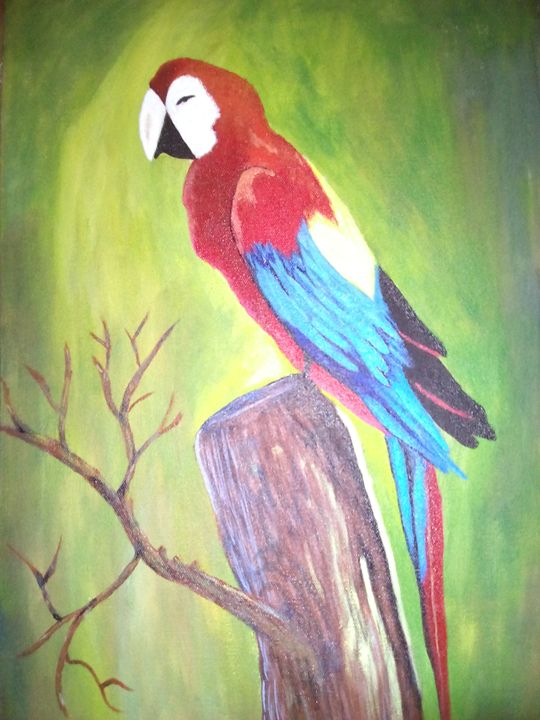 Macaw Parrot Painting for sell - Sahrosh Painting is Fun