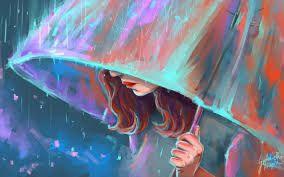 A Girl in the Rain - Sahrosh Painting is Fun