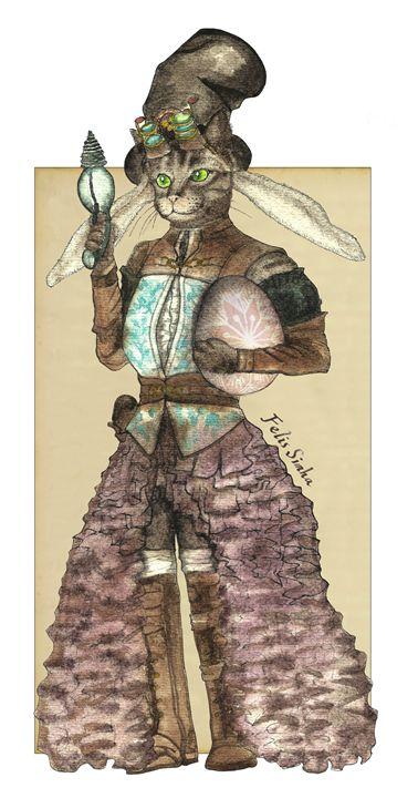 Lady Easter Rabbit Cat - Felis Simha