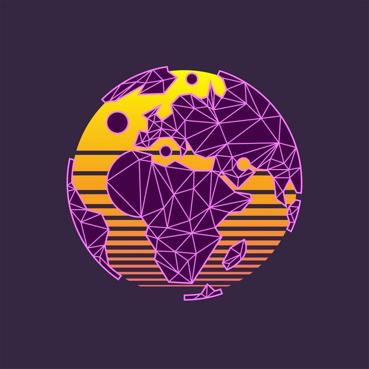 Planet Earth Vapor Wave - NV Designs - ARTboi
