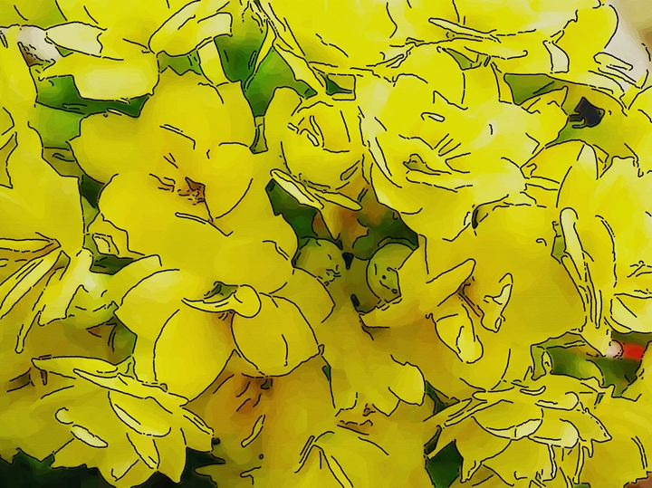 Background with yellow flower - CLA
