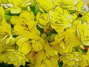 Background with yellow flower