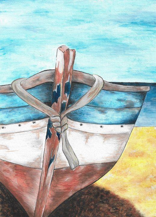 Old boat on the beach - Jasmina Šuster