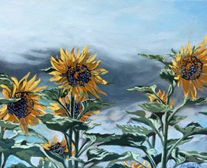 St Christophe sunflowers 1 - Dewey Franklin