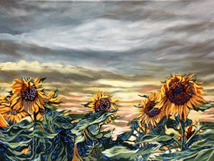 St. Christophe sunflowers 2 - Dewey Franklin