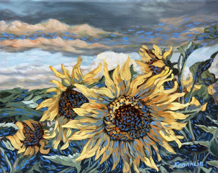 St. Christophe Sunflowers 3 - Dewey Franklin