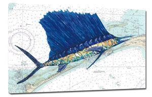 Canvas Sailfish ~ Outer Banks Chart