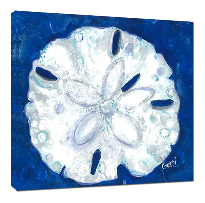 SALE! Sanddollar on Canvas, 30 x 30 - Gerri Hyman Art