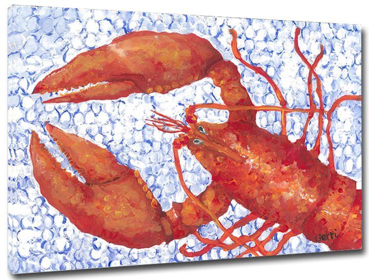 "SALE! Lobster Canvas,16x20"" - Gerri Hyman Art"
