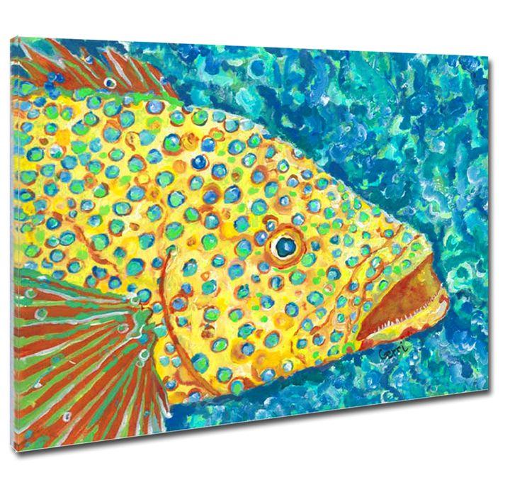 "SALE! Spotted Grouper Canvas, 24x36"" - Gerri Hyman Art"
