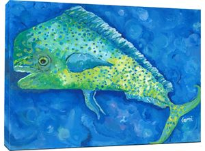 Mahi Mahi on Canvas, 30 x 40""