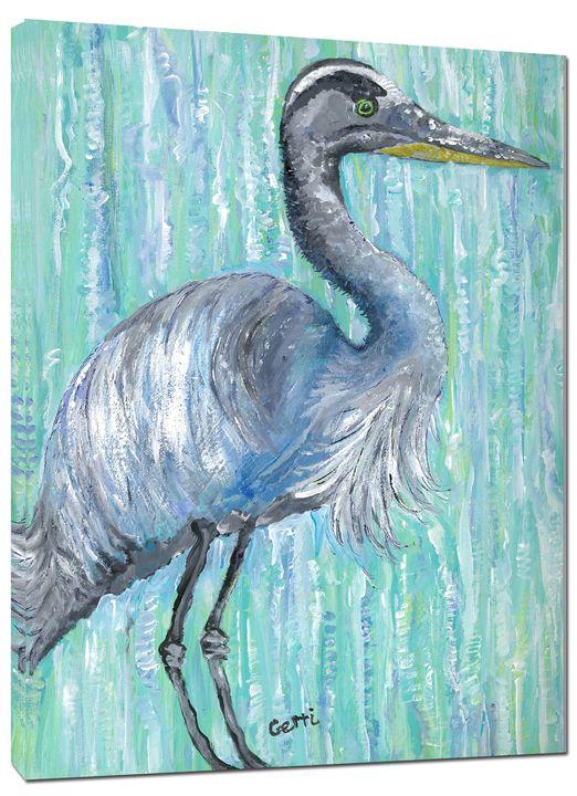 "SALE! Blue Heron Canvas Art,24 x 36"" - Gerri Hyman Art"