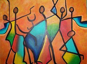 Shaman Acrylic Painting