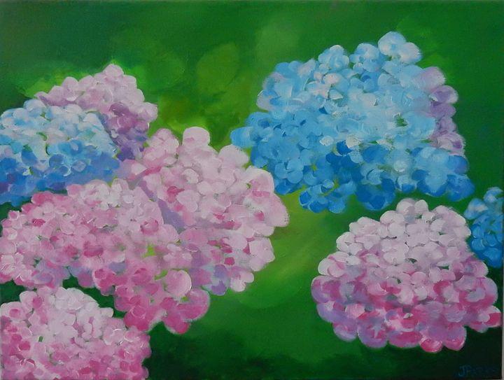 Hydrangeas - Joy Parks Coats Art