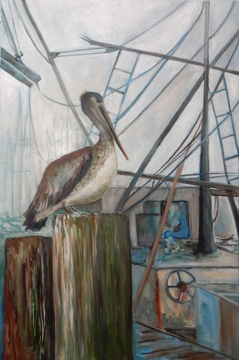 Foggy Day at the Dock - Joy Parks Coats Art